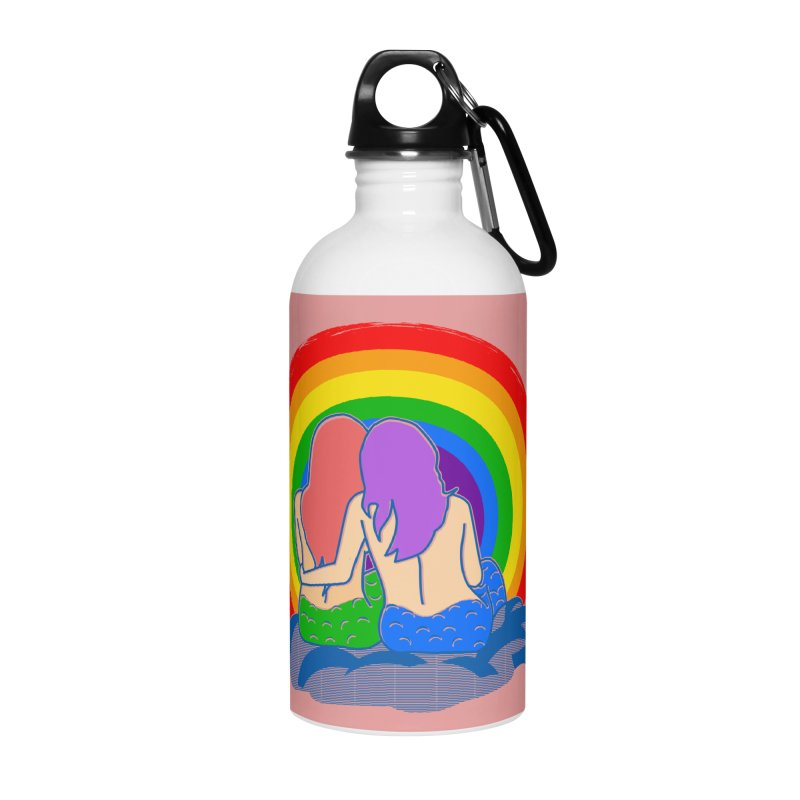 Mermaid for each other Accessories Water Bottle by Thirty Silver