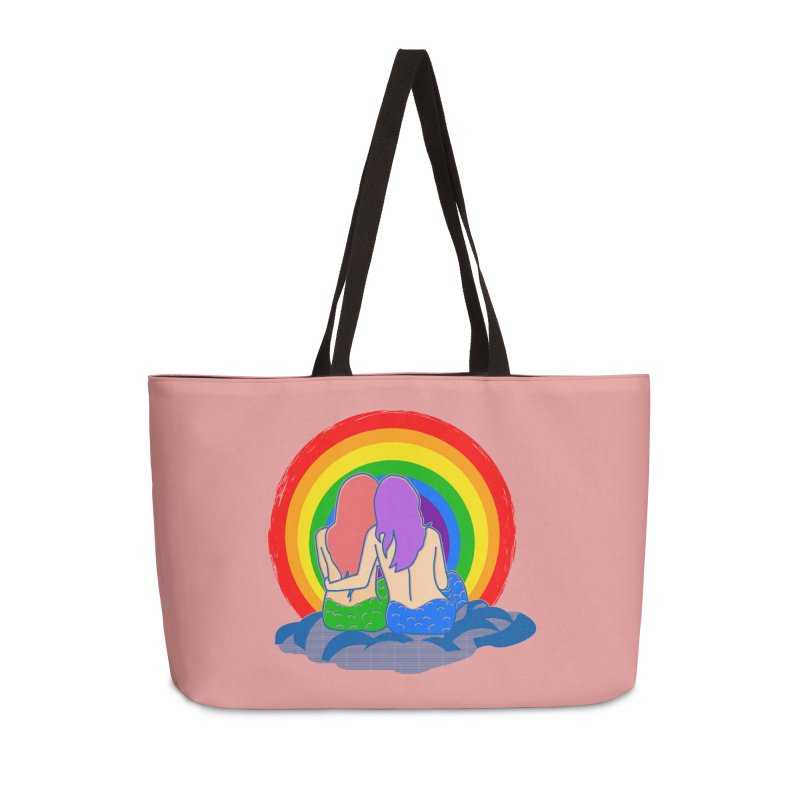 Mermaid for each other Accessories Weekender Bag Bag by Thirty Silver