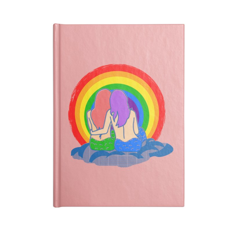 Mermaid for each other Accessories Lined Journal Notebook by Thirty Silver