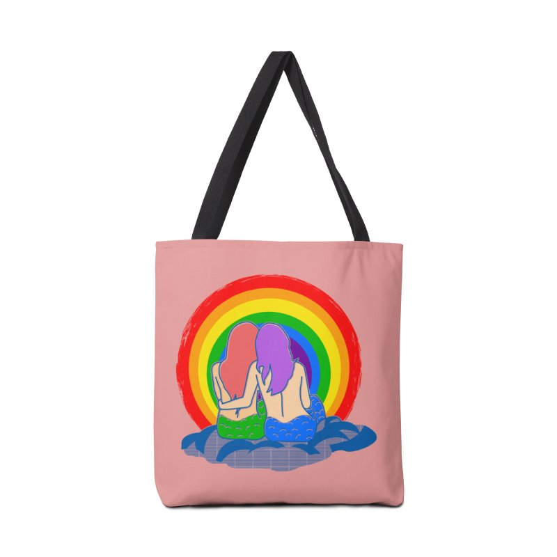 Mermaid for each other Accessories Tote Bag Bag by Thirty Silver