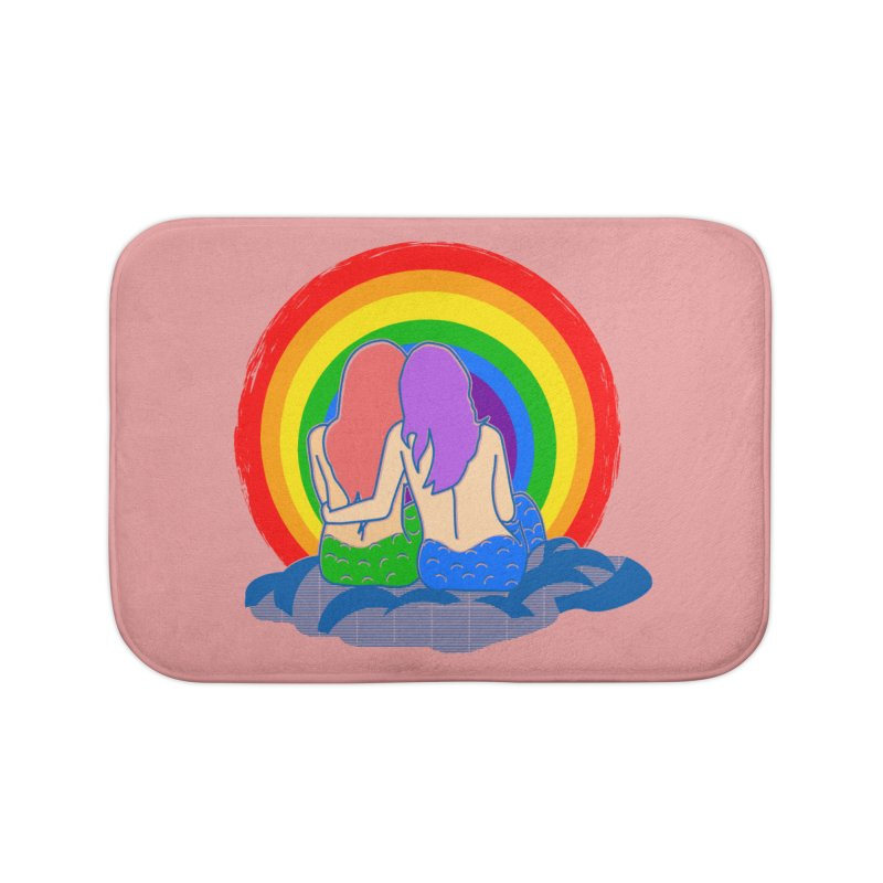Mermaid for each other Home Bath Mat by Thirty Silver
