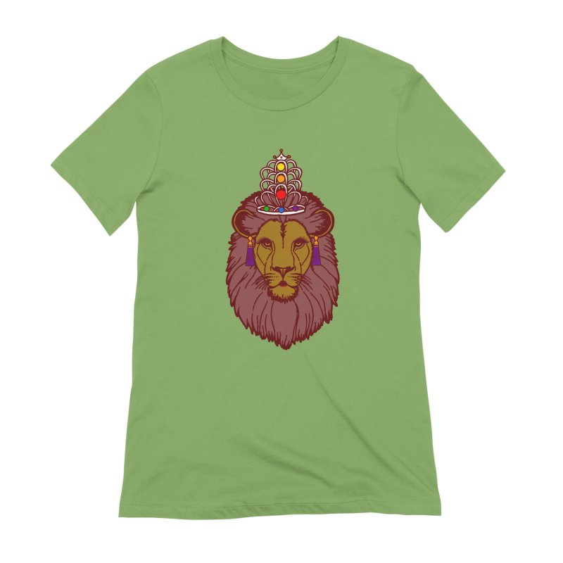 Queen of the pride Women's Extra Soft T-Shirt by Thirty Silver