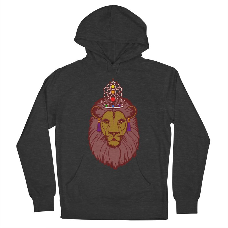 Queen of the pride Women's French Terry Pullover Hoody by Thirty Silver