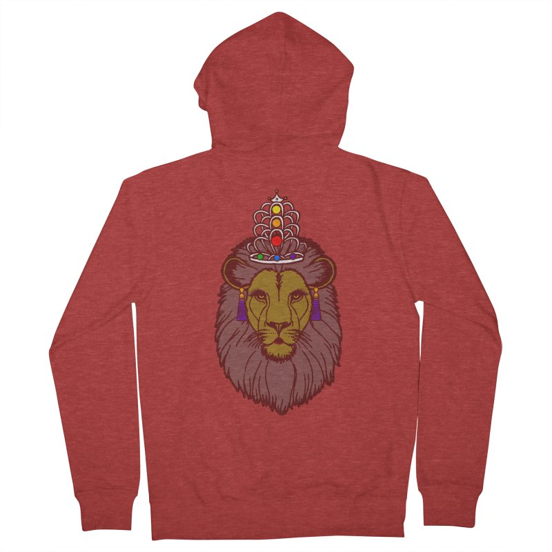 Queen of the pride Men's French Terry Zip-Up Hoody by Thirty Silver