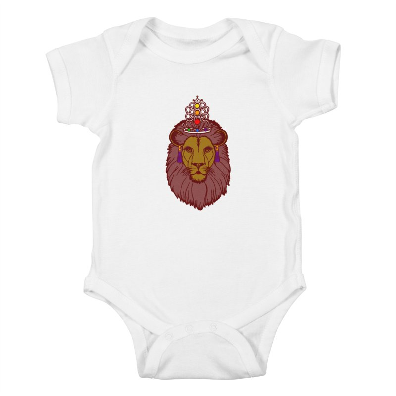 Queen of the pride Kids Baby Bodysuit by Thirty Silver