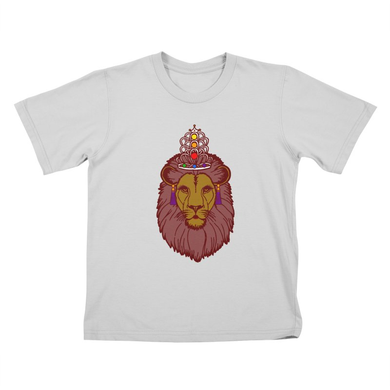 Queen of the pride Kids T-Shirt by Thirty Silver