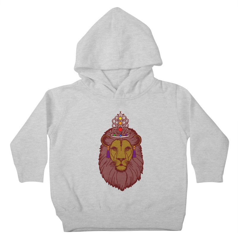 Queen of the pride Kids Toddler Pullover Hoody by Thirty Silver