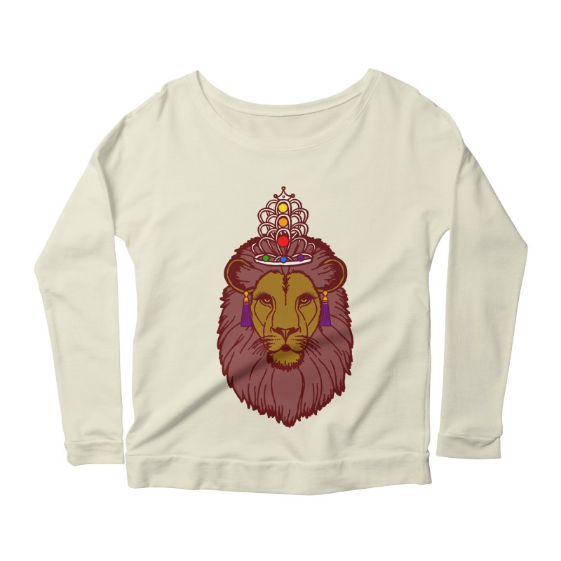 Queen of the pride Women's Scoop Neck Longsleeve T-Shirt by Thirty Silver