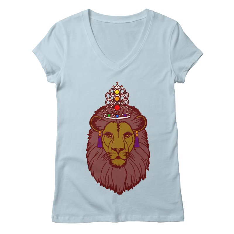 Queen of the pride Women's Regular V-Neck by Thirty Silver