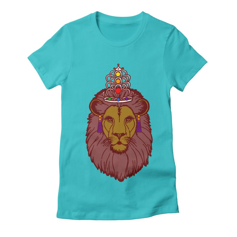 Queen of the pride Women's Fitted T-Shirt by Thirty Silver