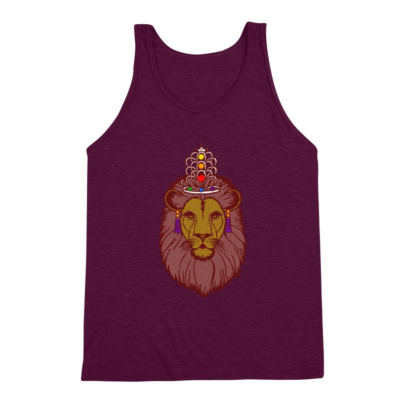 Queen of the pride Men's Triblend Tank by Thirty Silver