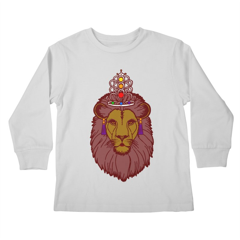 Queen of the pride Kids Longsleeve T-Shirt by Thirty Silver