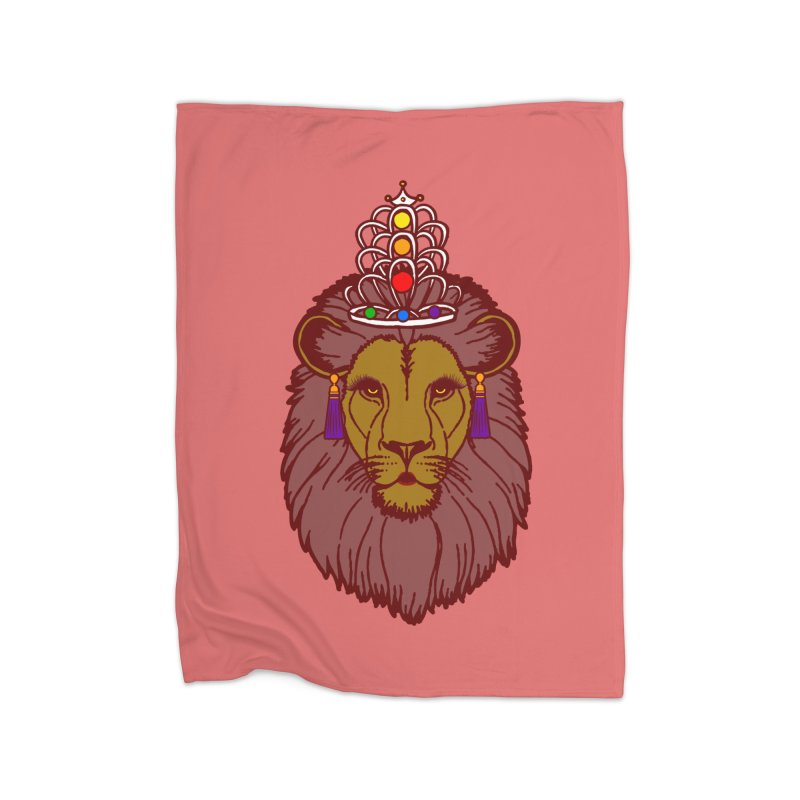 Queen of the pride Home Fleece Blanket Blanket by Thirty Silver