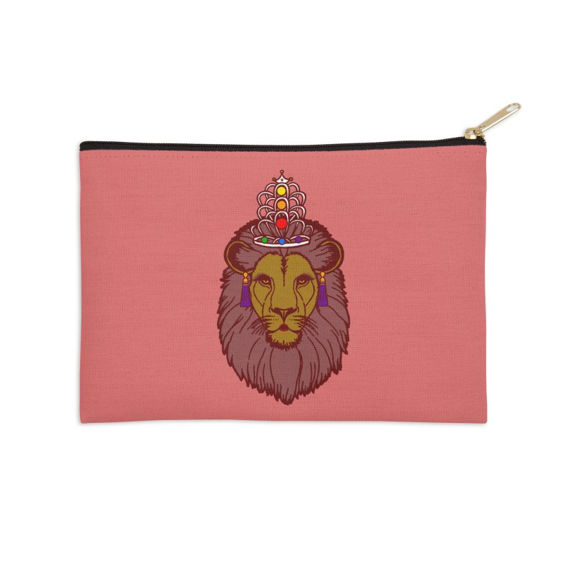 Queen of the pride Accessories Zip Pouch by Thirty Silver