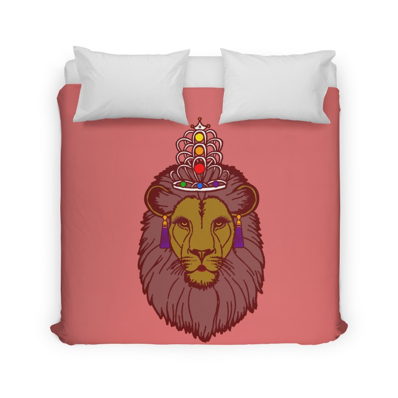 Queen of the pride Home Duvet by Thirty Silver