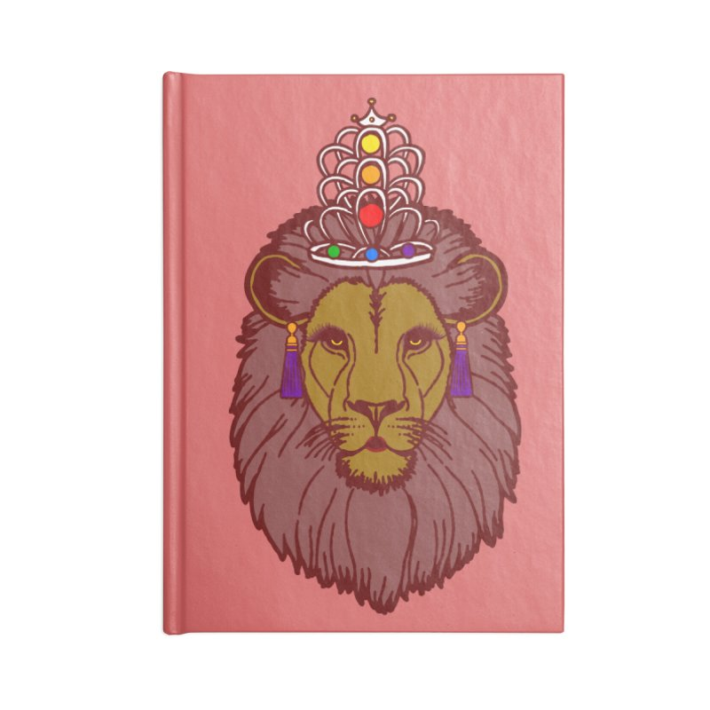 Queen of the pride Accessories Blank Journal Notebook by Thirty Silver