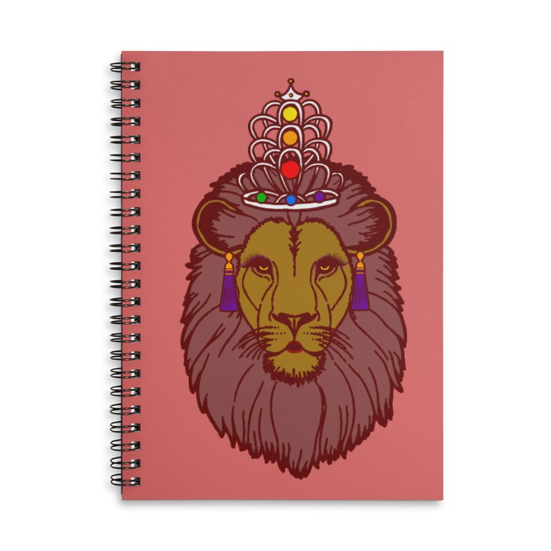 Queen of the pride Accessories Lined Spiral Notebook by Thirty Silver
