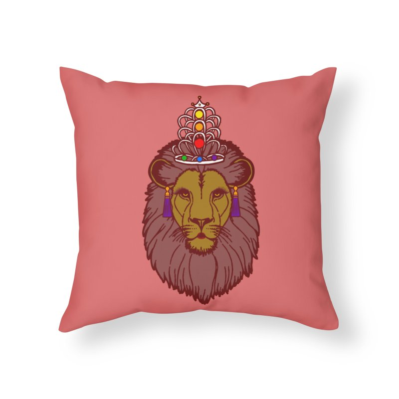 Queen of the pride Home Throw Pillow by Thirty Silver