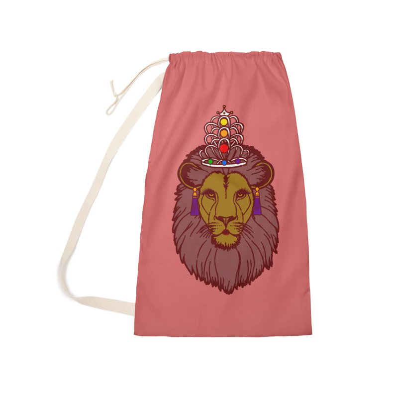 Queen of the pride Accessories Laundry Bag Bag by Thirty Silver