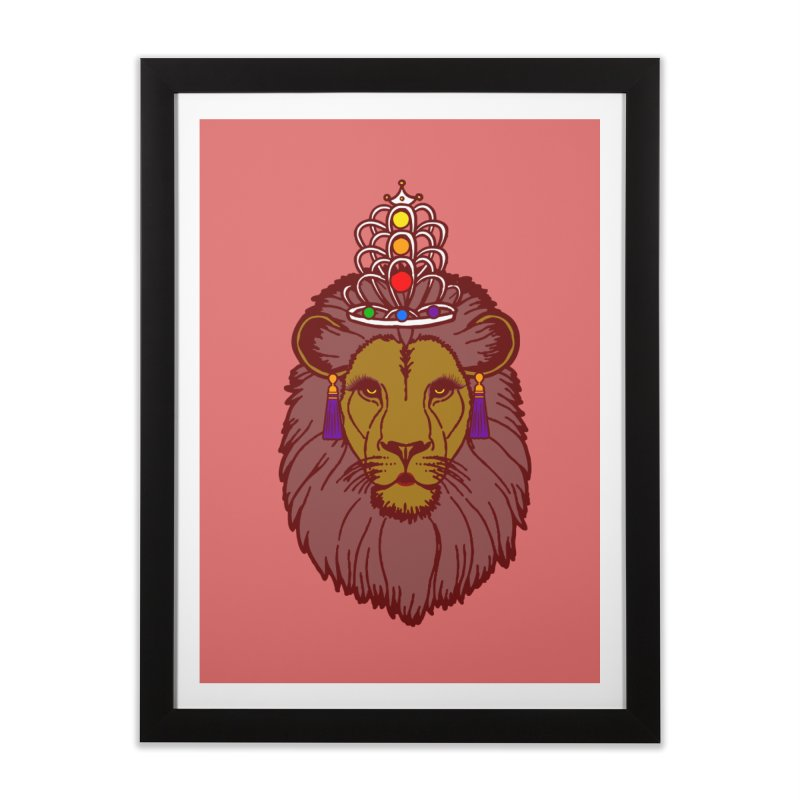 Queen of the pride Home Framed Fine Art Print by Thirty Silver
