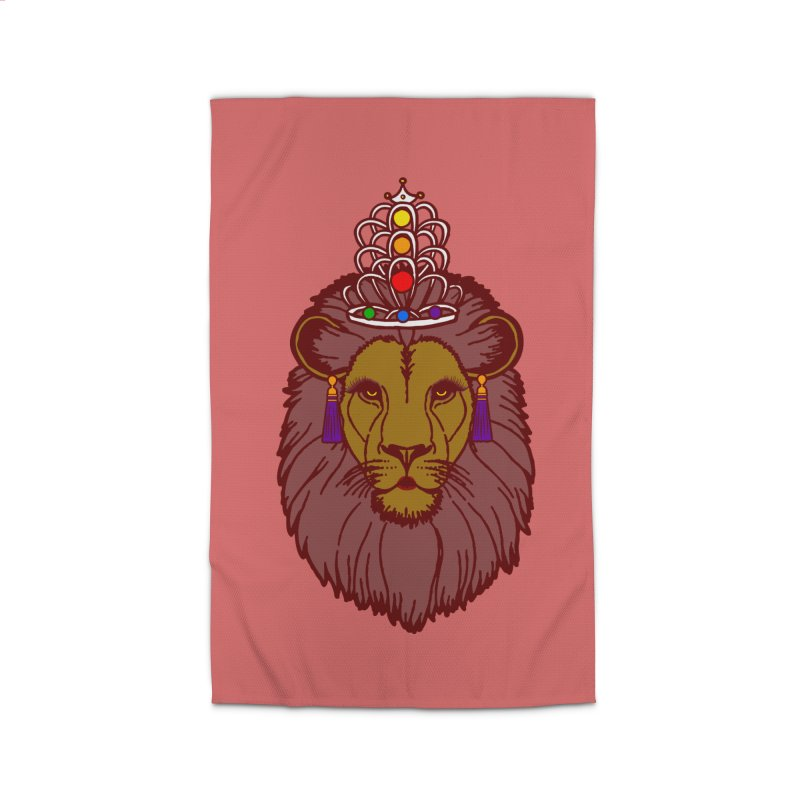 Queen of the pride Home Rug by Thirty Silver