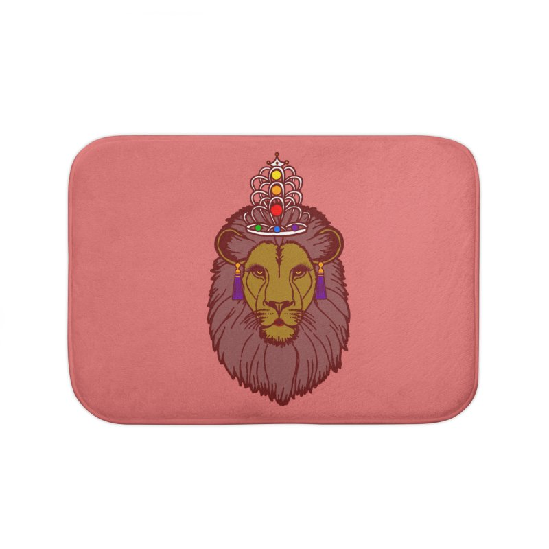 Queen of the pride Home Bath Mat by Thirty Silver