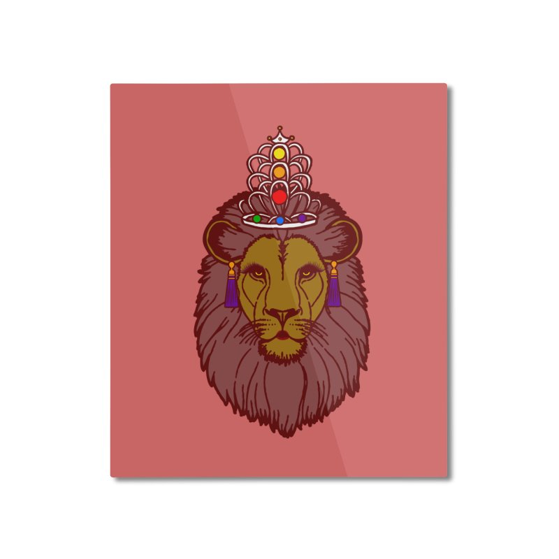 Queen of the pride Home Mounted Aluminum Print by Thirty Silver