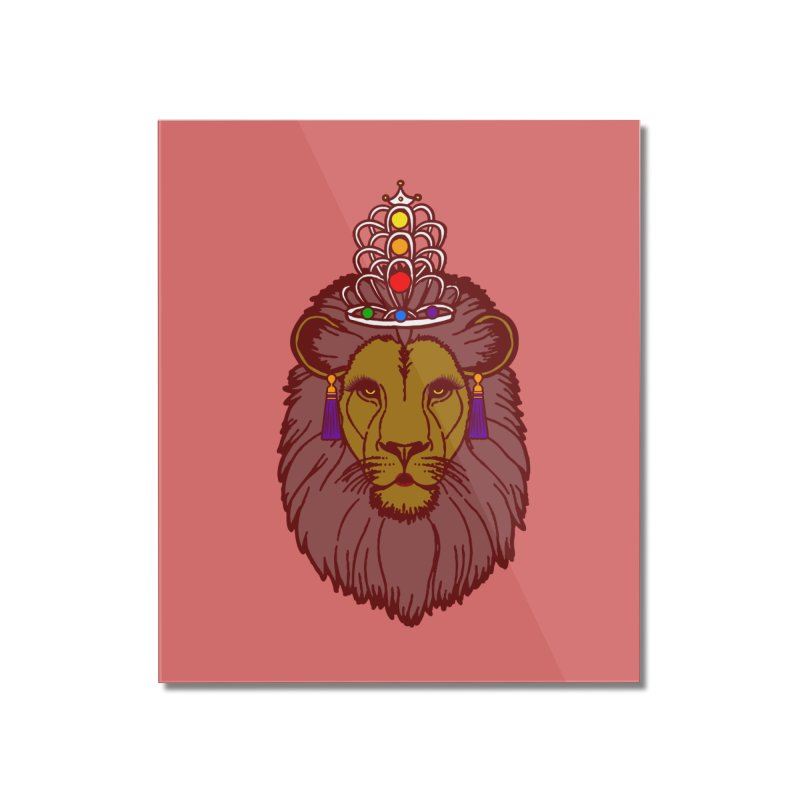 Queen of the pride Home Mounted Acrylic Print by Thirty Silver