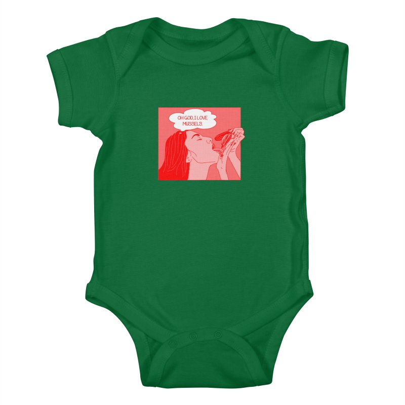 OMG Mussels Kids Baby Bodysuit by Thirty Silver