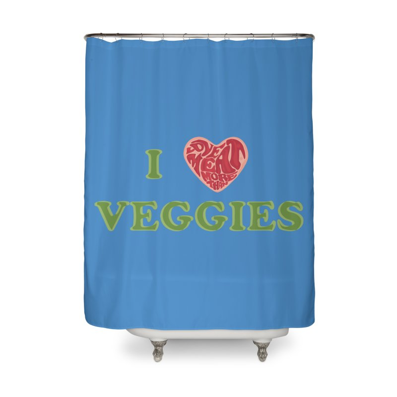 Omnivore Home Shower Curtain by Thirty Silver
