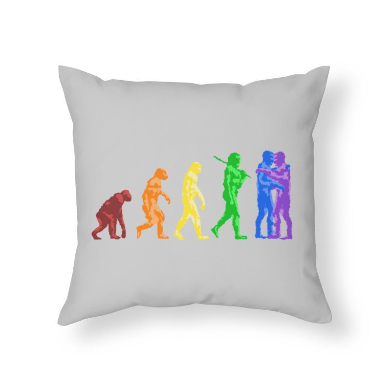 Darwin's Home Throw Pillow by Thirty Silver