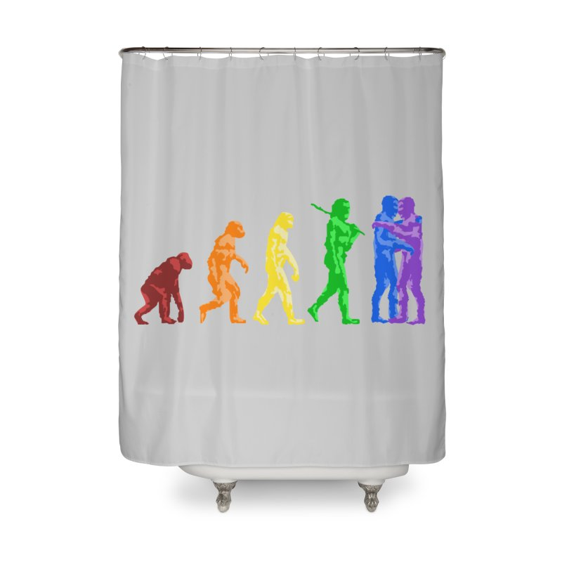 Darwin's Home Shower Curtain by Thirty Silver