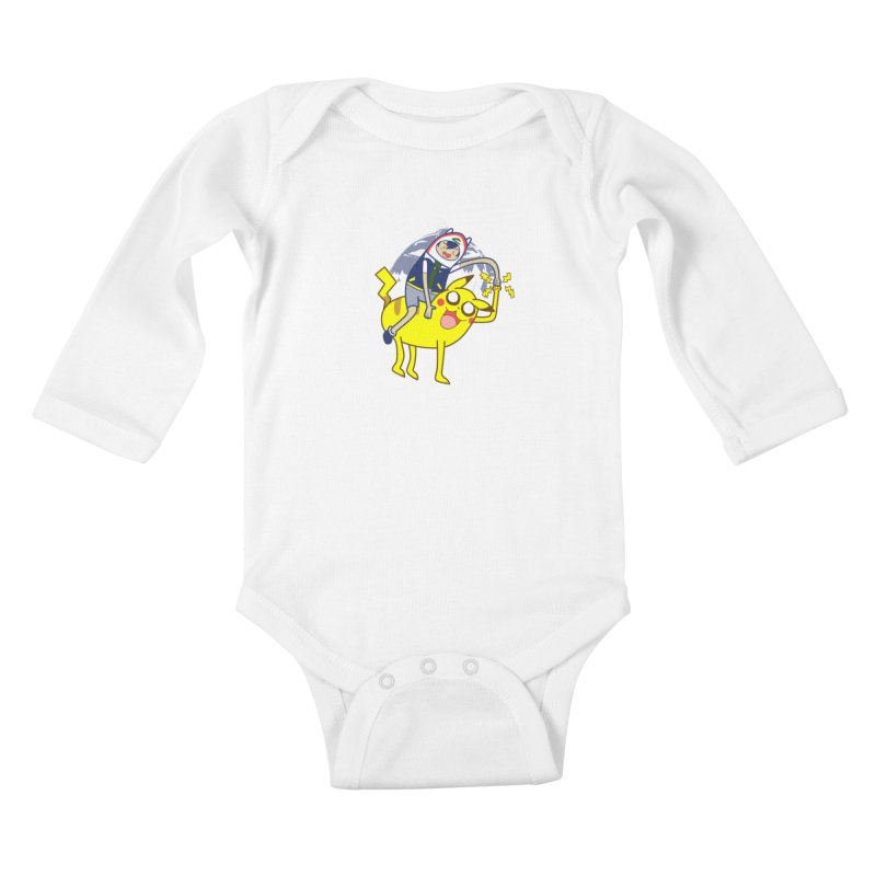 Pika Time! Kids Baby Longsleeve Bodysuit by Thirty Silver