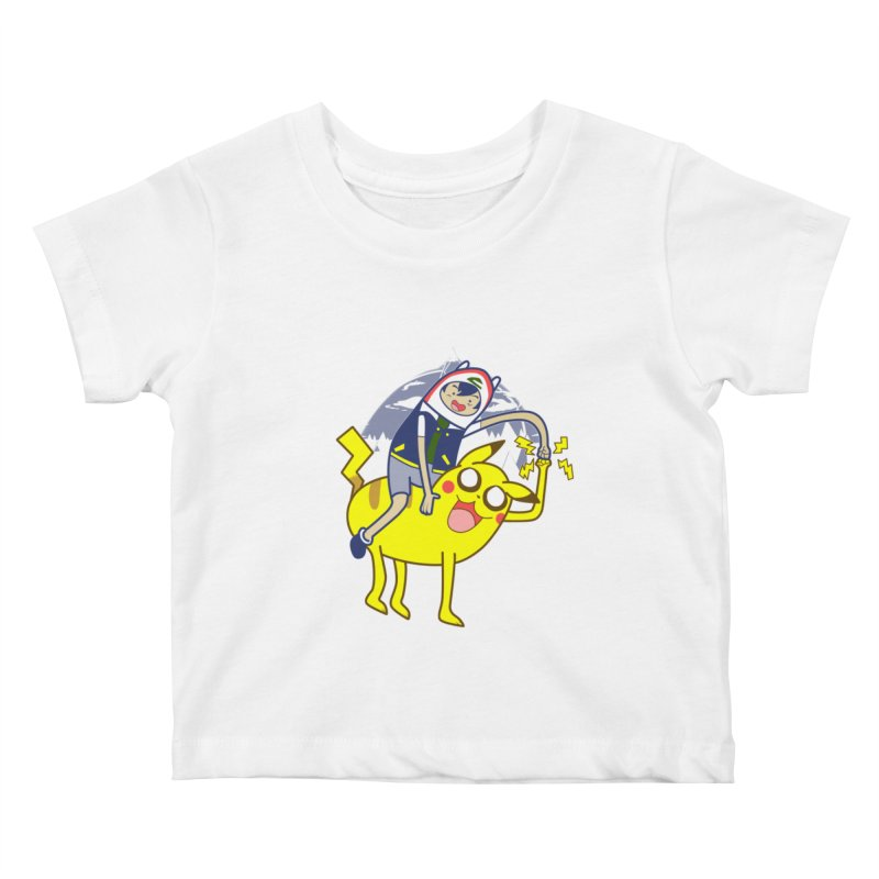 Pika Time! Kids Baby T-Shirt by Thirty Silver