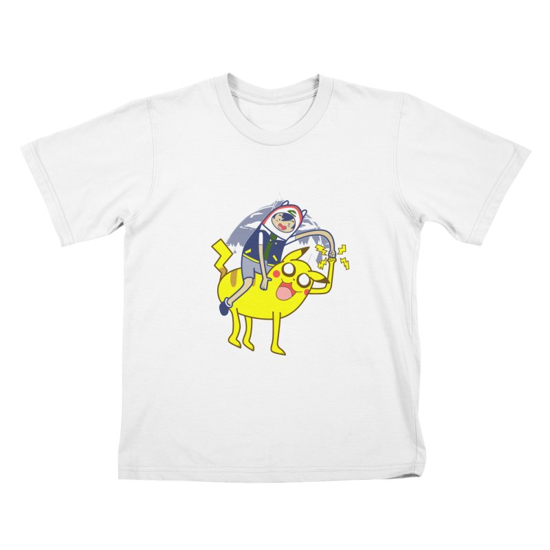Pika Time! Kids T-Shirt by Thirty Silver