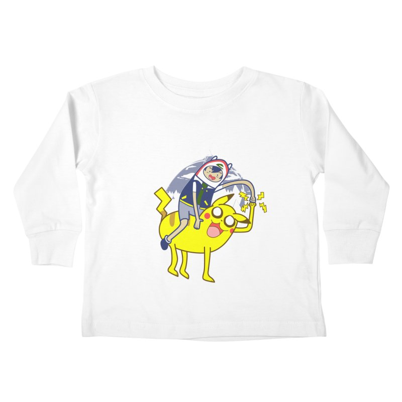 Pika Time! Kids Toddler Longsleeve T-Shirt by Thirty Silver