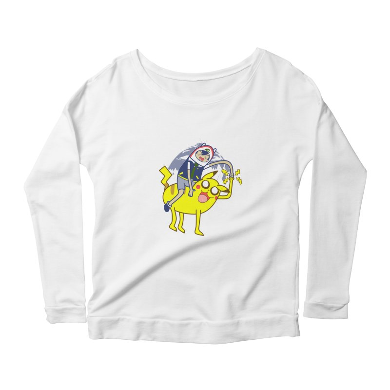 Pika Time! Women's Longsleeve Scoopneck  by Thirty Silver