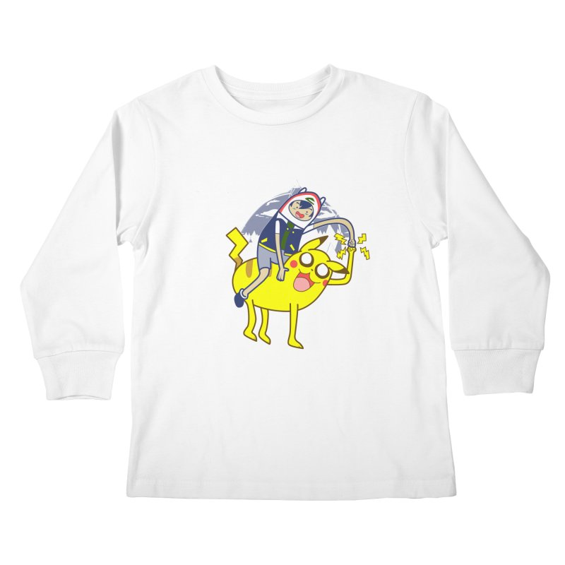 Pika Time! Kids Longsleeve T-Shirt by Thirty Silver