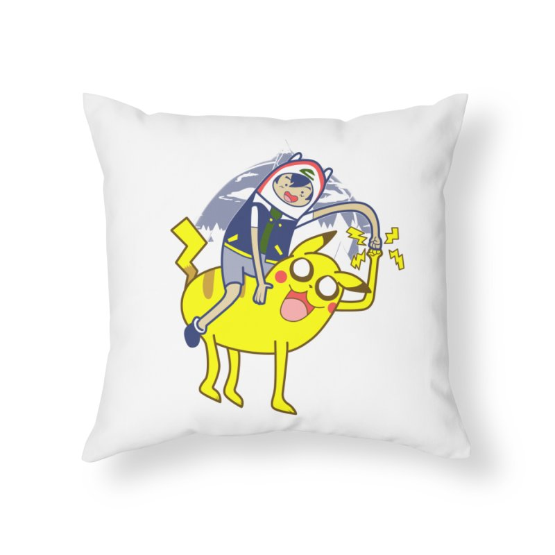 Pika Time! Home Throw Pillow by Thirty Silver