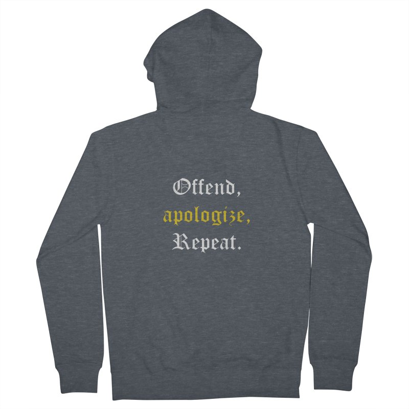 Sorry Not Sorry Men's French Terry Zip-Up Hoody by Thirty Silver