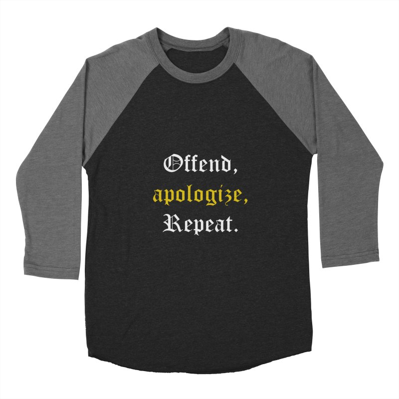 Sorry Not Sorry Men's Baseball Triblend T-Shirt by Thirty Silver