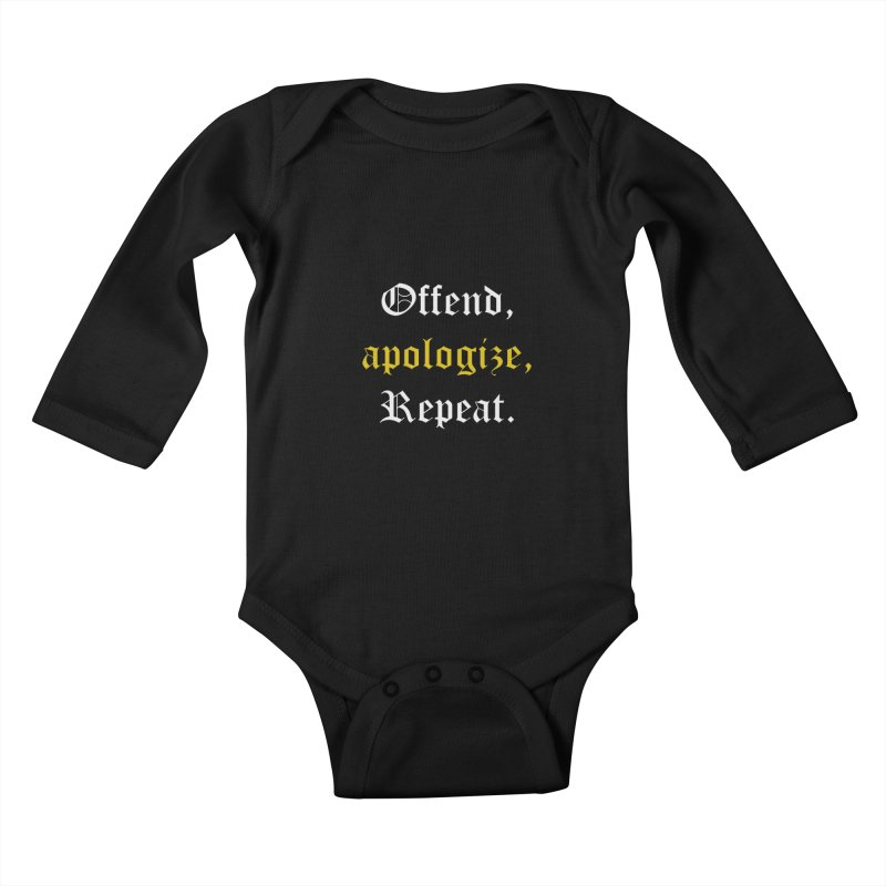 Sorry Not Sorry Kids Baby Longsleeve Bodysuit by Thirty Silver