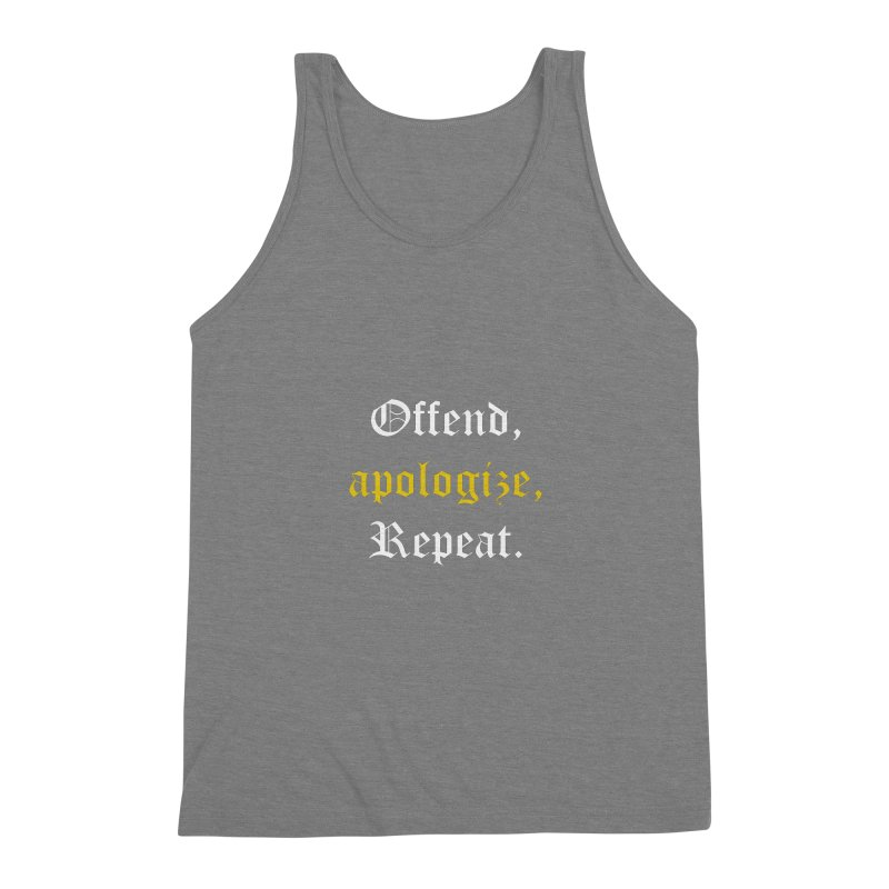 Sorry Not Sorry Men's Triblend Tank by Thirty Silver