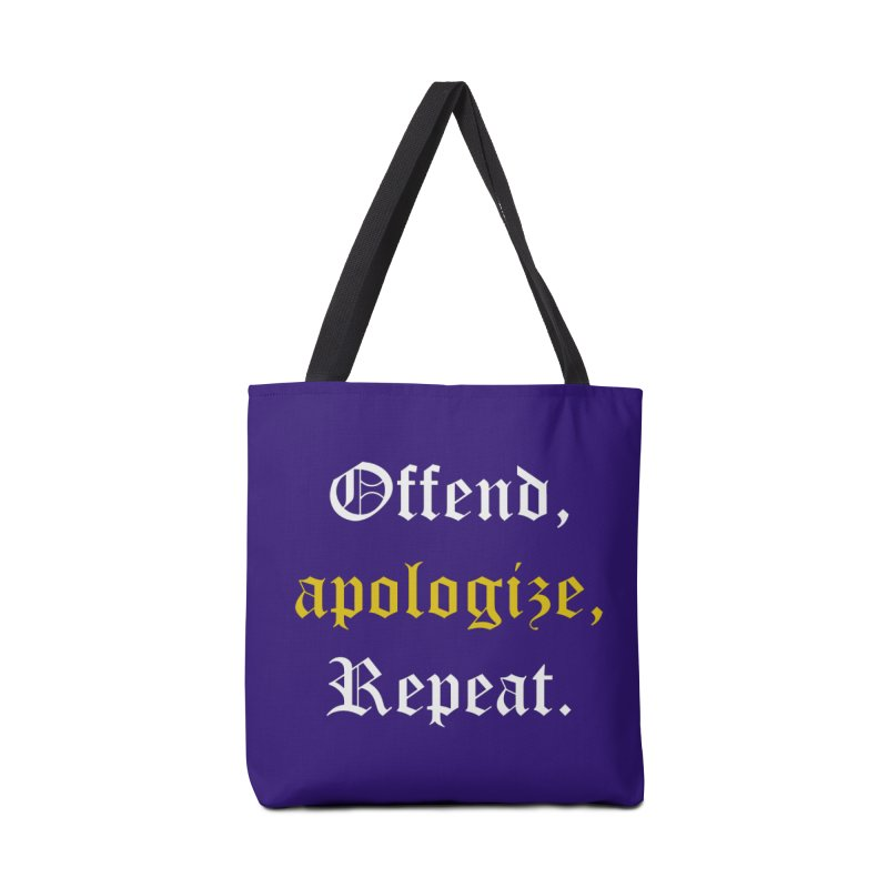 Sorry Not Sorry Accessories Tote Bag Bag by Thirty Silver