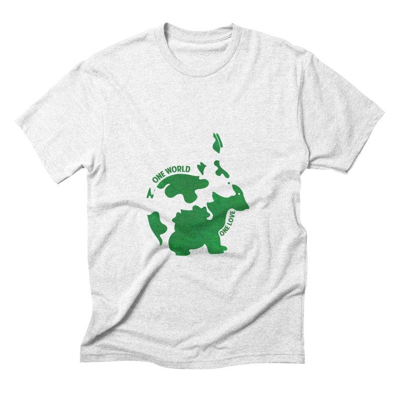 Bunnies Men's Triblend T-shirt by Thirty Silver