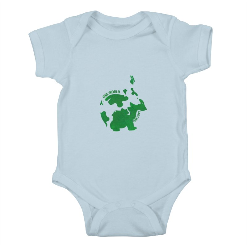 Bunnies Kids Baby Bodysuit by Thirty Silver