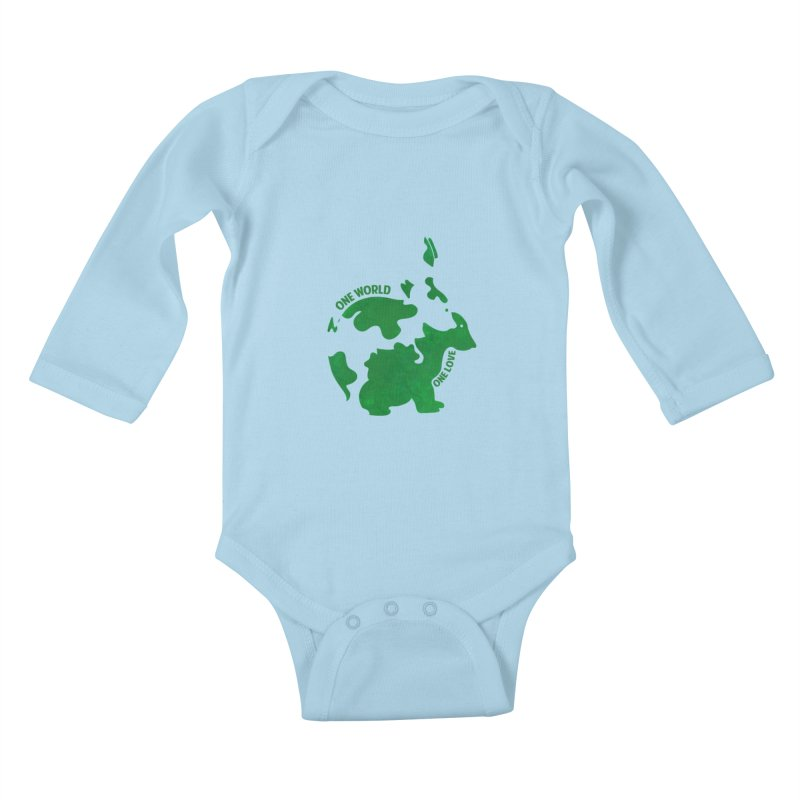 Bunnies Kids Baby Longsleeve Bodysuit by Thirty Silver