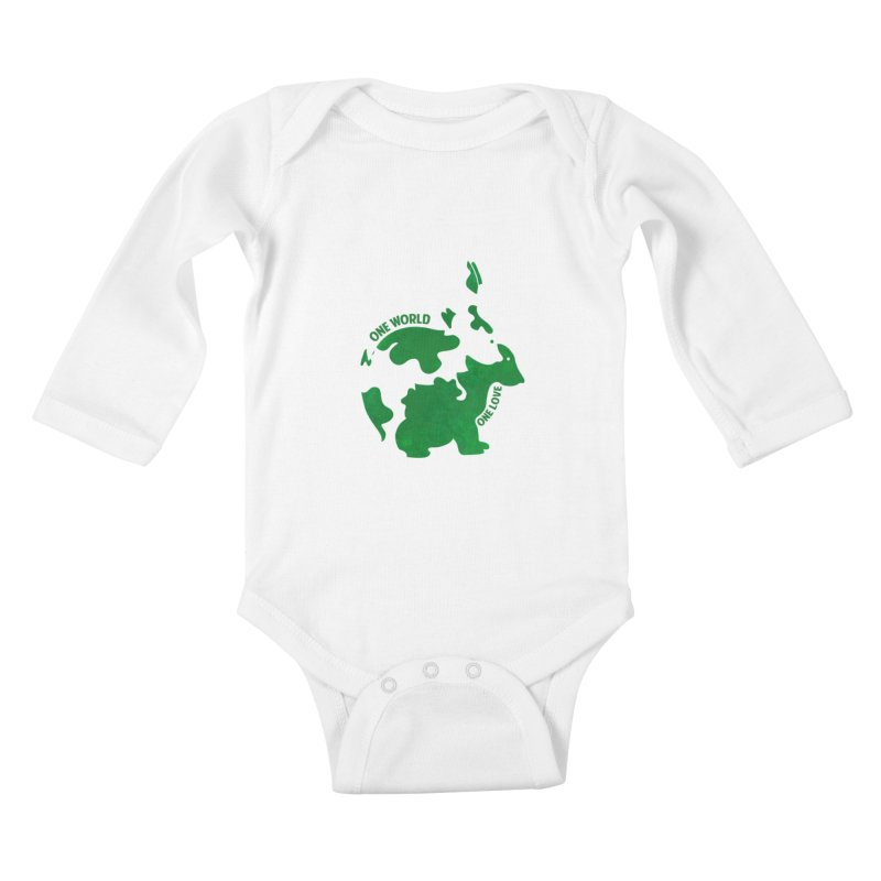 Bunnies Kids Baby Longsleeve Bodysuit by Thirty Silver