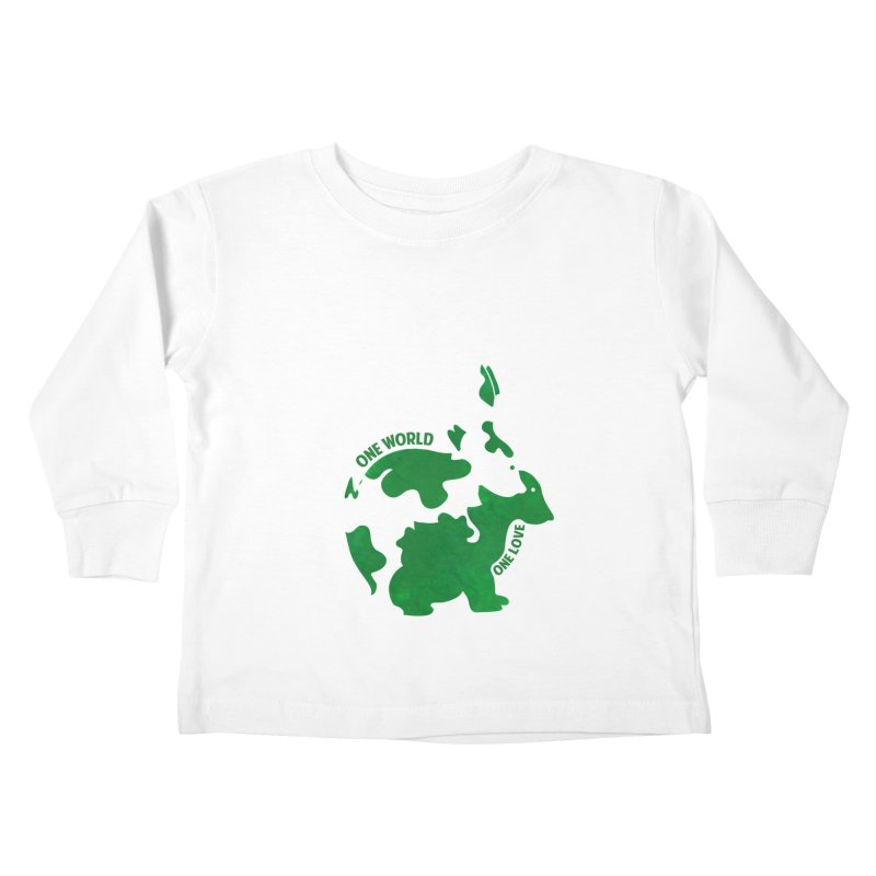 Bunnies Kids Toddler Longsleeve T-Shirt by Thirty Silver