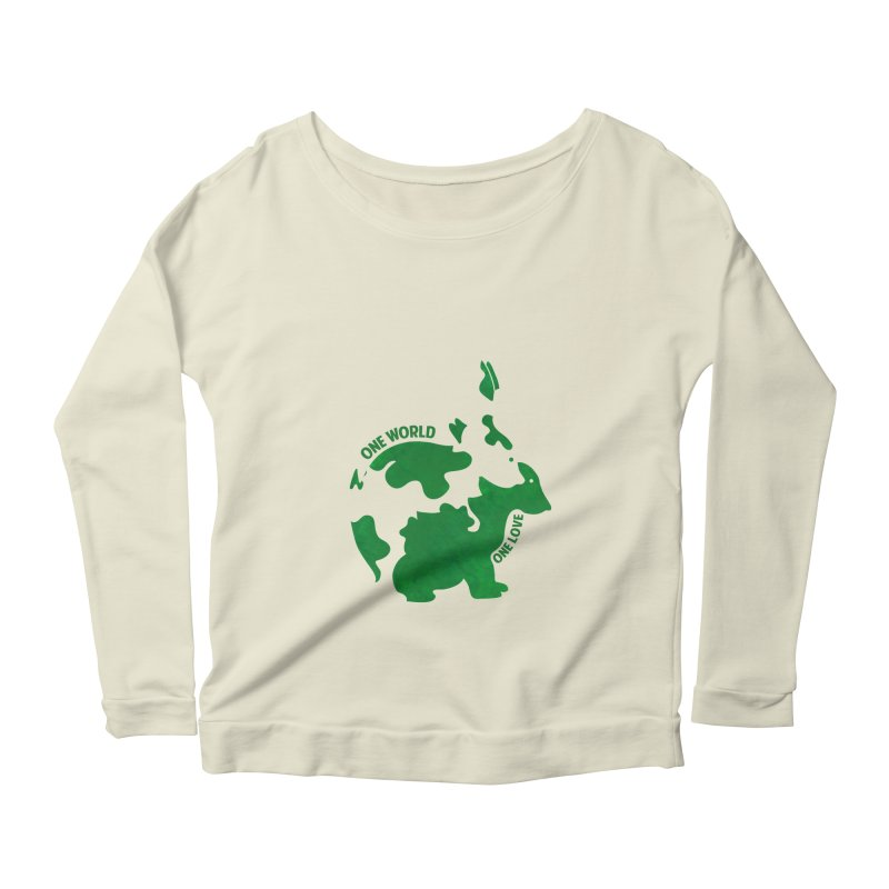 Bunnies Women's Longsleeve Scoopneck  by Thirty Silver